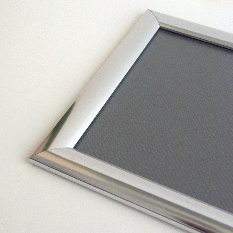 25 mm snap frame A5 chrome look