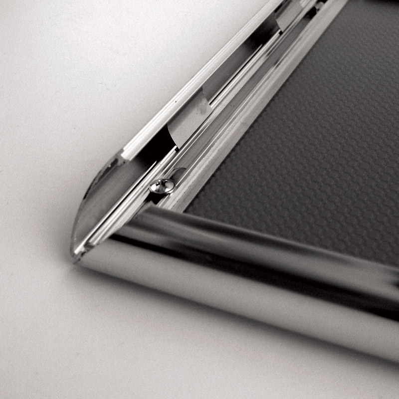 25 mm snap frame A5 stainless steel look