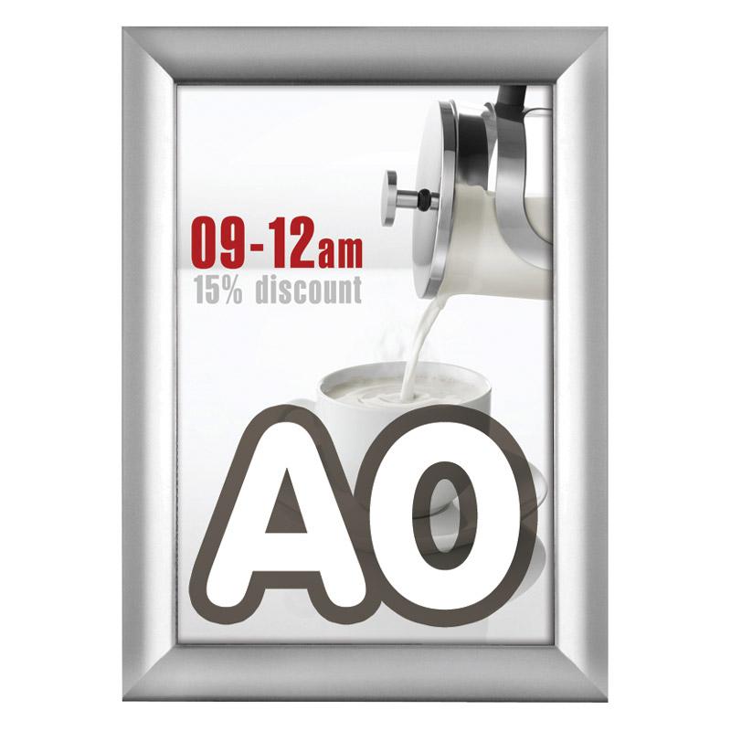 Kliklijst 38 mm A0 verstek 841 x 1189 mm incl. anti-reflex PVC folie.