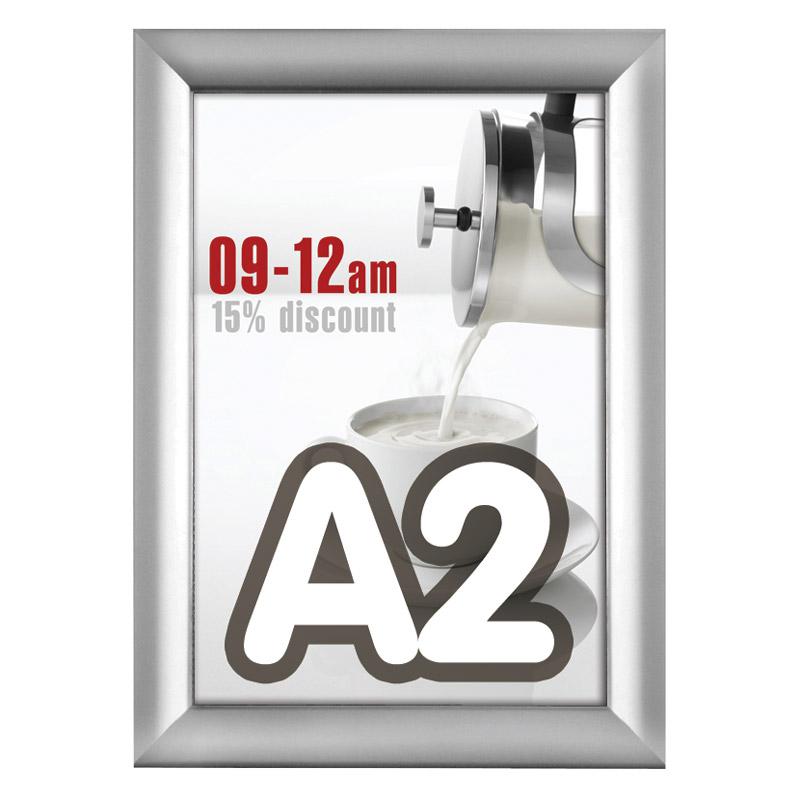 Kliklijst 38 mm A2 verstek 420 x 594 mm incl. anti-reflex PVC folie.