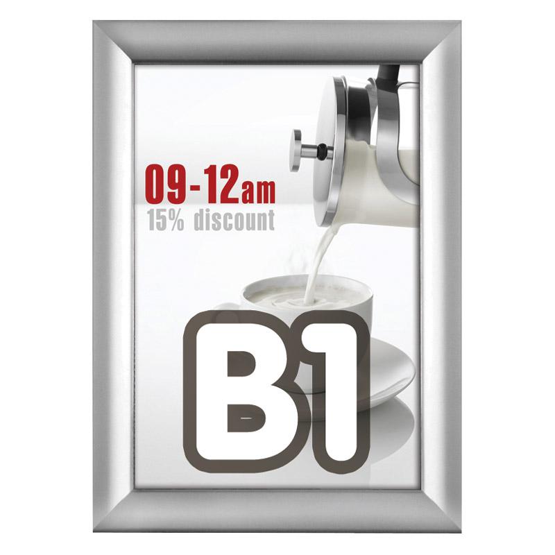 Kliklijst 38 mm B1 verstek 700 x 1000 mm incl. anti-reflex PVC folie.