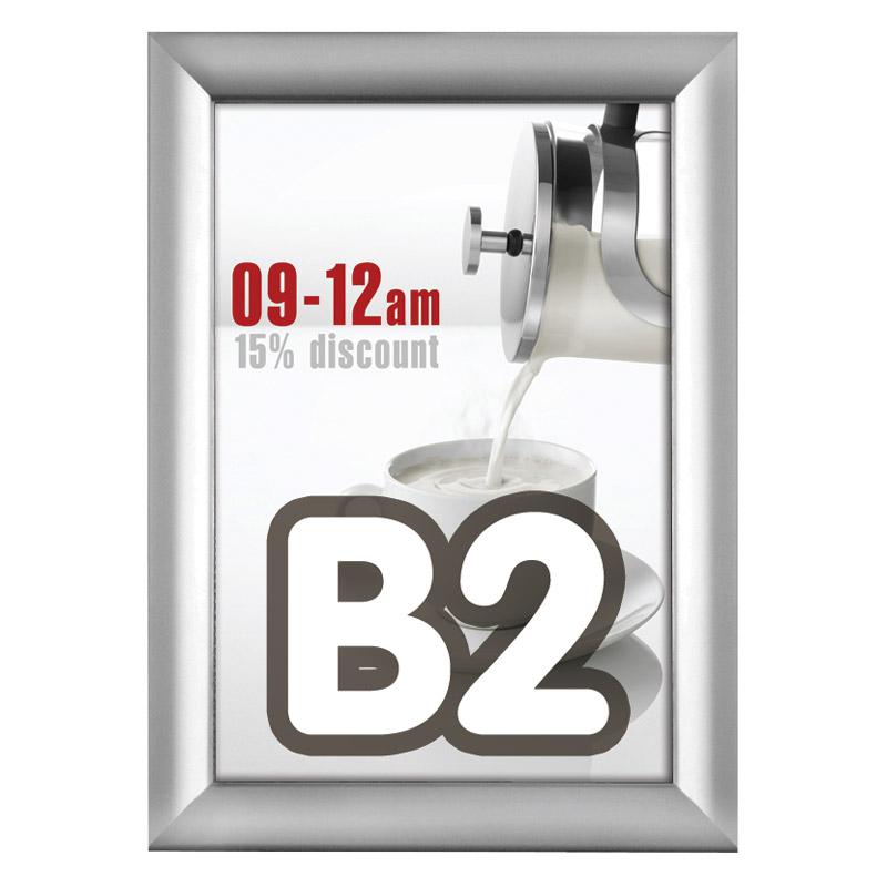 Kliklijst 38 mm B2 verstek 500 x 700 mm incl. anti-reflex PVC folie.