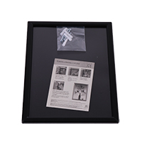 Opti-frame 14 mm ronde hoek A4 zwart