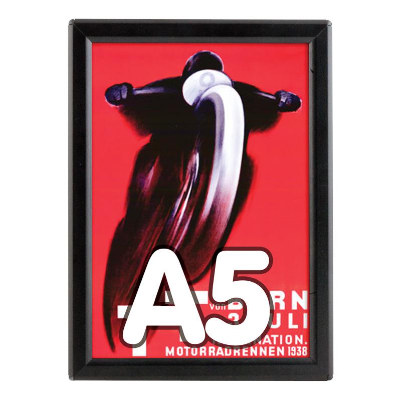 Opti-frame 14 mm zwart A5 zonder standaard