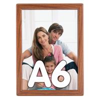 Opti Frame 14 mm A6 zonder standaard houten uitstraling 105 x 148 mm