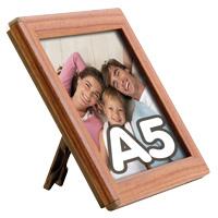 Opti Frame 14 mm A5 met staandaard houten uitstraling 148 x 210 mm