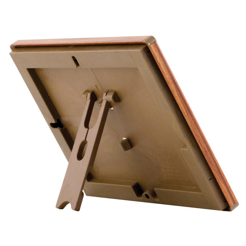 Opti Frame 14 mm A5 met staandaard houten uitstraling