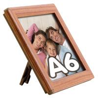 Opti Frame 14 mm A6 met standaard houten uitstraling 105 x 148 mm