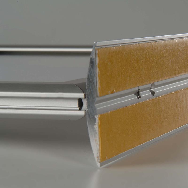 Cadre coulissant sur comptoir 25 mm, A3, horizontal, double face