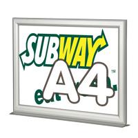 Slide-in Frame A4 liggend met voet 25 mm dubbelzijdig  210 x 297 mm