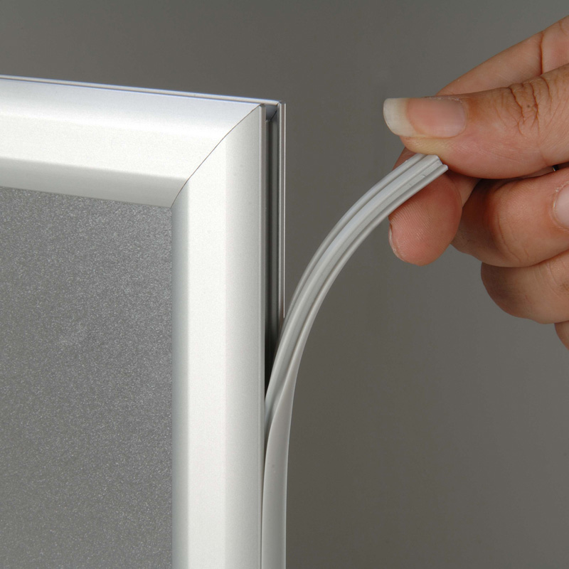 Slide-in frame op toonbank 25 mm, A4, liggend, dubbelzijdig