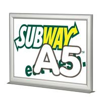 Slide-in Frame A5 liggend met voet 25 mm dubbelzijdig 148 x 210 mm