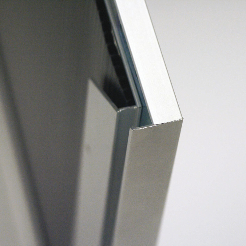 Single-sided slide-in frame 24 mm mitred A4