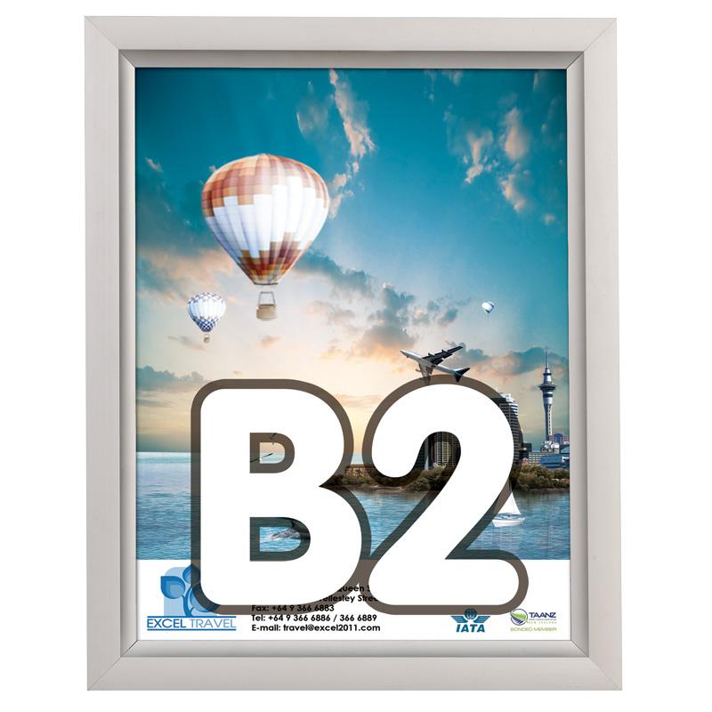 Slide-in frame 24 mm, B2, staand, enkelzijdig