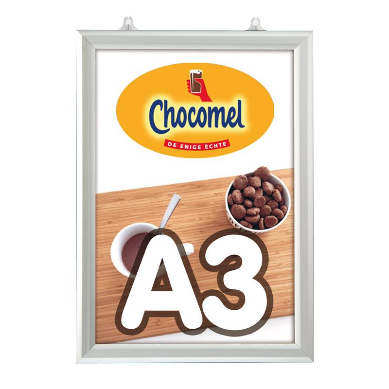 Slide-in frame 25 mm, A3, staand, dubbelzijdig