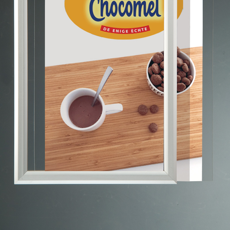 Slide-in frame 25 mm, B2, staand, dubbelzijdig