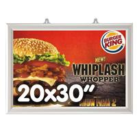 Slide-in Frame 25 mm 20 x 30 inch dubbelzijdig verstek liggend
