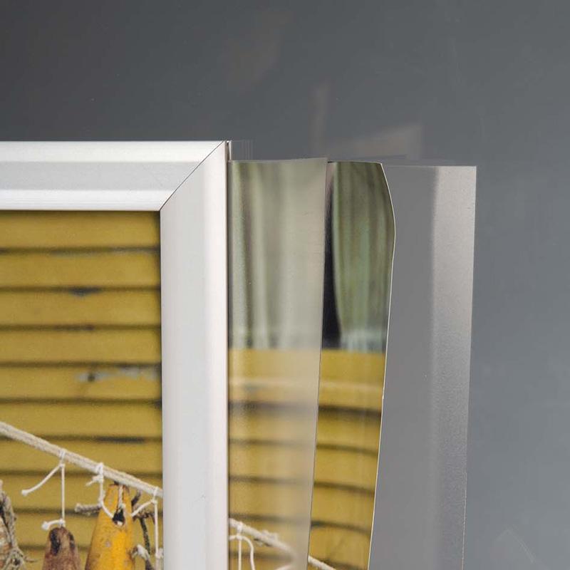 Slide-in frame 25 mm, A1, liggend, dubbelzijdig