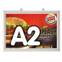 Slide-in frame 25 mm, A2, liggend, dubbelzijdig