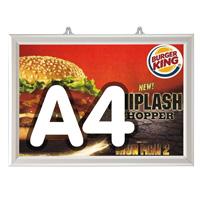 Slide-in frame 25 mm, A4, liggend, dubbelzijdig