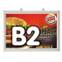 Slide-in frame 25 mm, B2, liggend, dubbelzijdig
