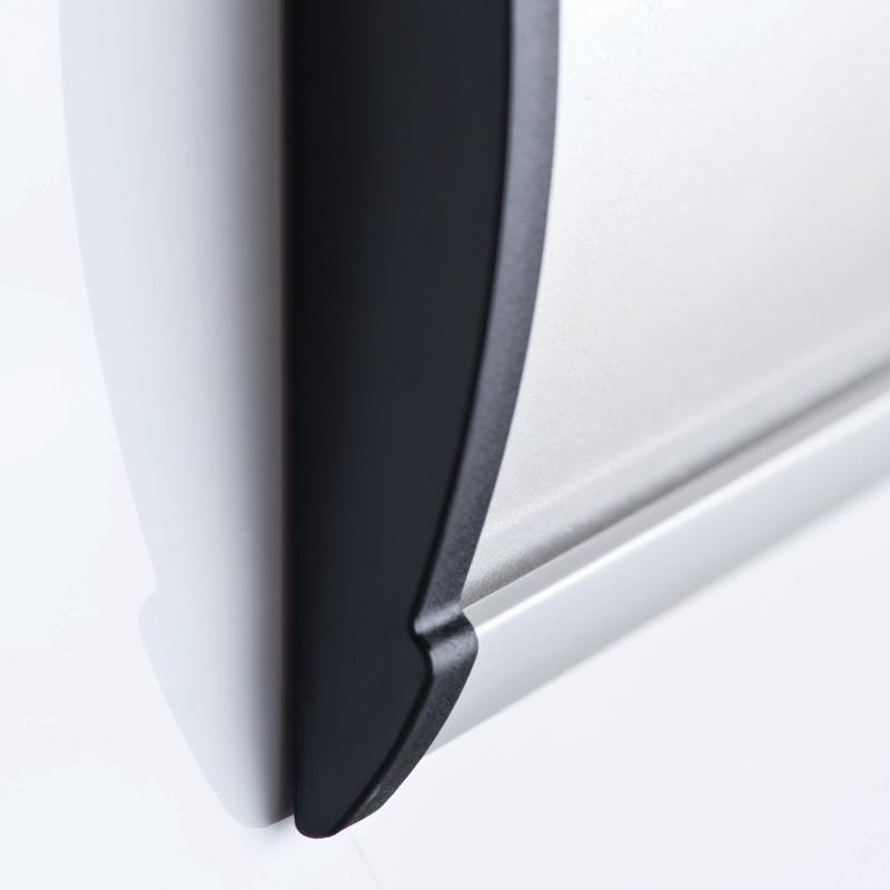 Wall sign arc endcaps 74x300mm