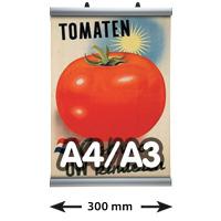 Poster Clamp profielen, A4/A3, lengte 300 mm