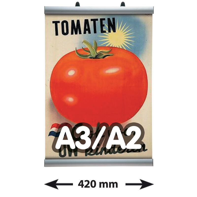 Poster Clamp profielen, A3/A2, lengte 420 mm