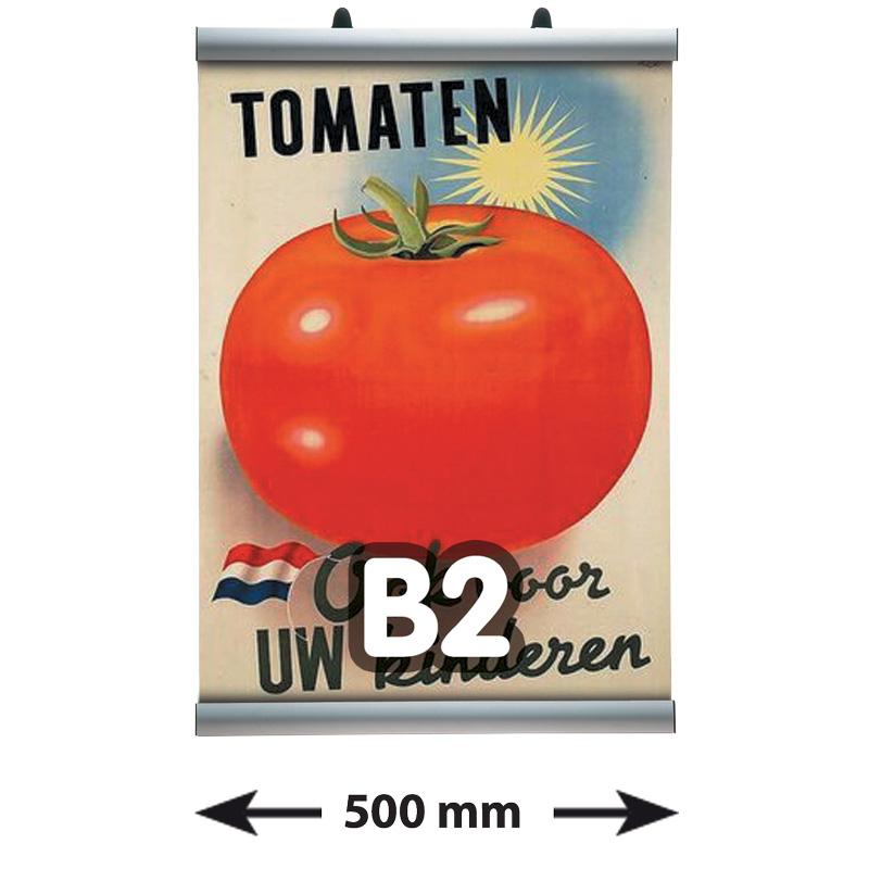 Poster Clamp profielen, B2, lengte 500 mm