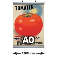 Poster Clamp profielen, A0, lengte 1200 mm