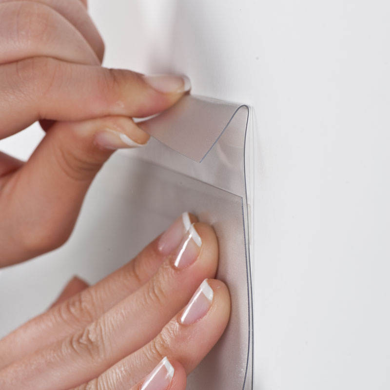 Pet Pocket D type, met tape helder A5 liggend