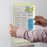 Pet Pocket U type, met tape helder A4 staand 210 x 297 mm
