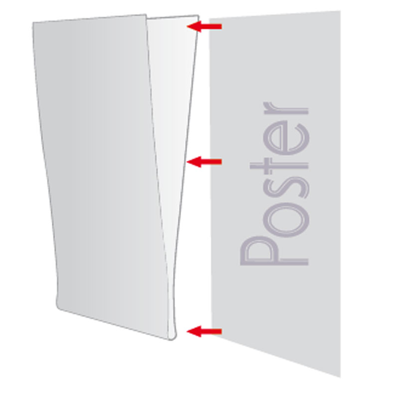 Pet Pocket U type, met tape helder A5 liggend
