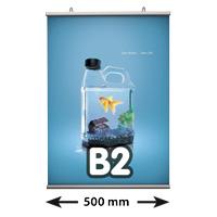 Poster Fast klemmen, B2, lengte 500 mm