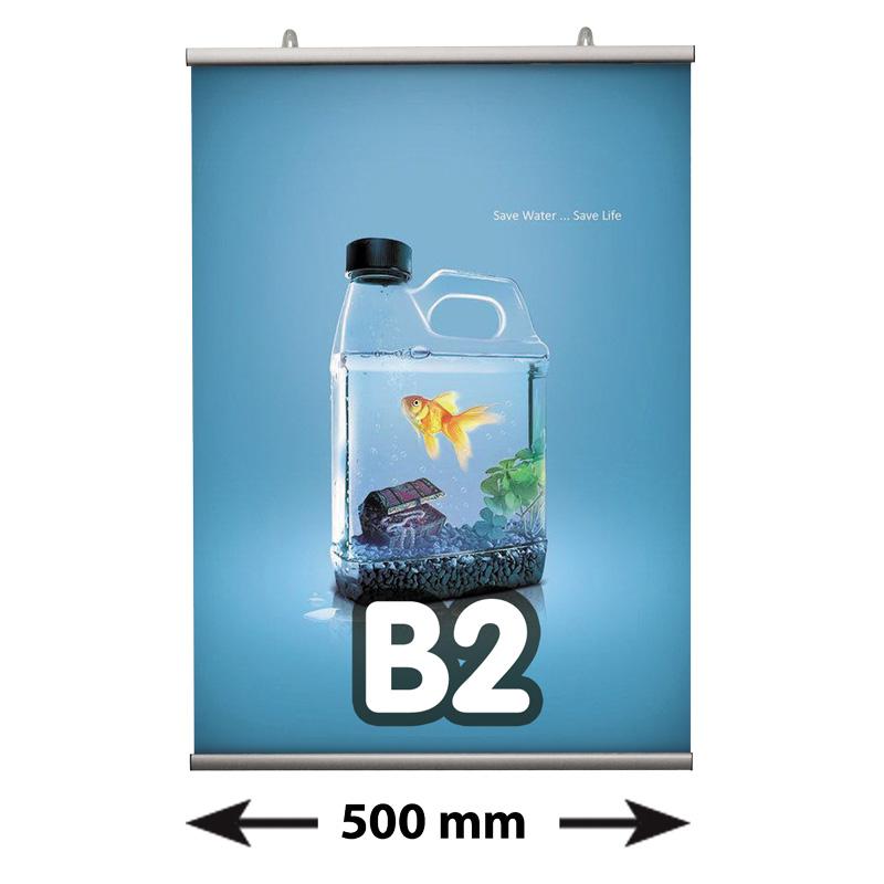 Poster Fast klemmen B2, lengte 500 mm