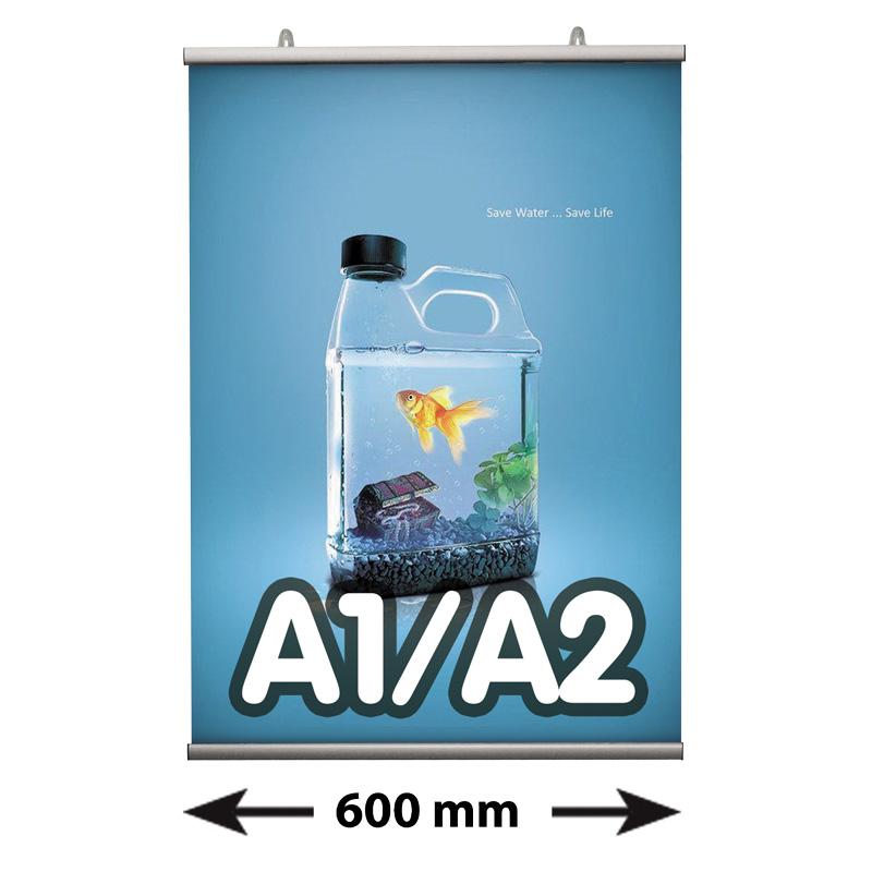Poster Fast klemmen A1/A2, lengte 600 mm