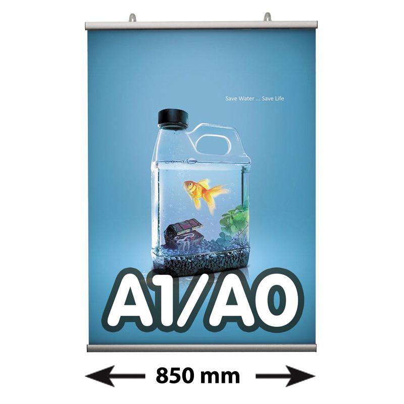 Poster Fast klemmen, A1/A0, lengte 850 mm