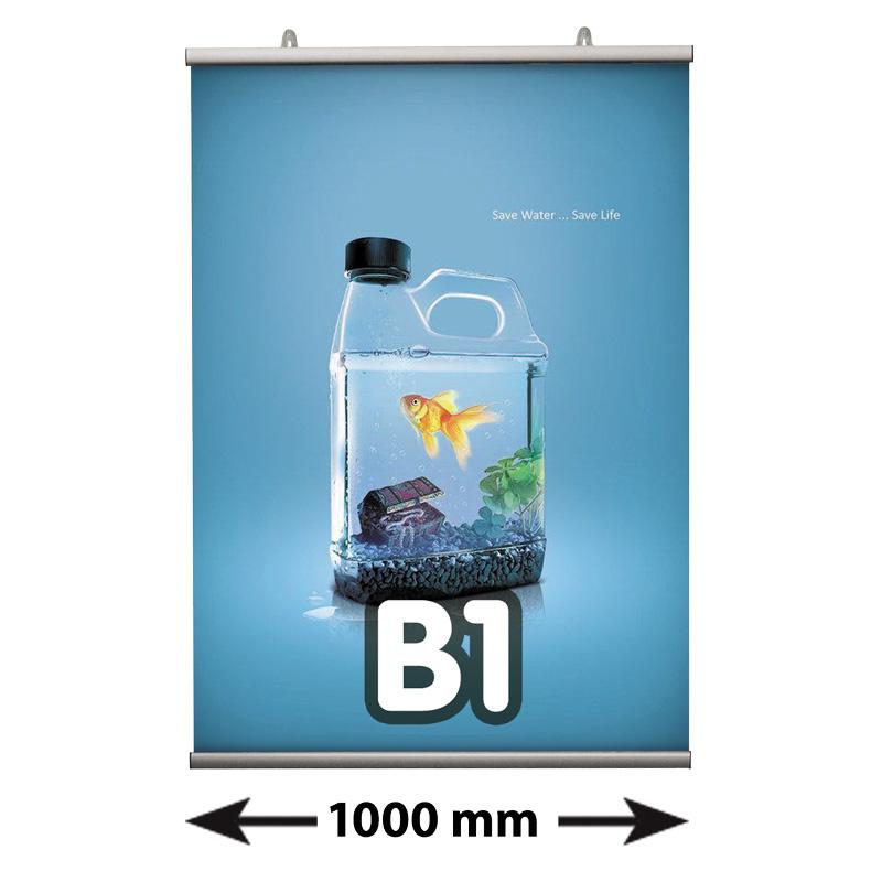 Poster Fast klemmen B1, lengte 1000 mm