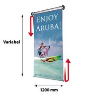 Scrolling Ceiling Banner variabel x 1200 mm inclusief draagtas