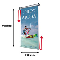 Scrolling Ceiling Banner variabel x 900 mm inclusief draagtas