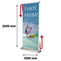Scrolling Banner 1000 x 4000 mm inclusief draagtas