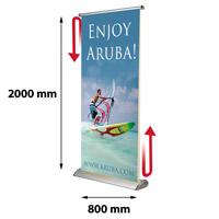 Scrolling Banner 800 x 4000 mm inclusief draagtas