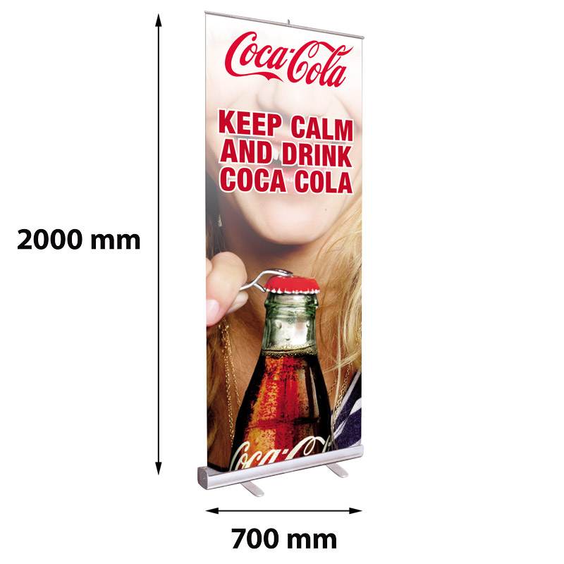 Roll banner with aluminium endcaps 700 x 2000 mm