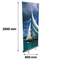 Rollbanner 800 x 2000 mm kliksysteem boven