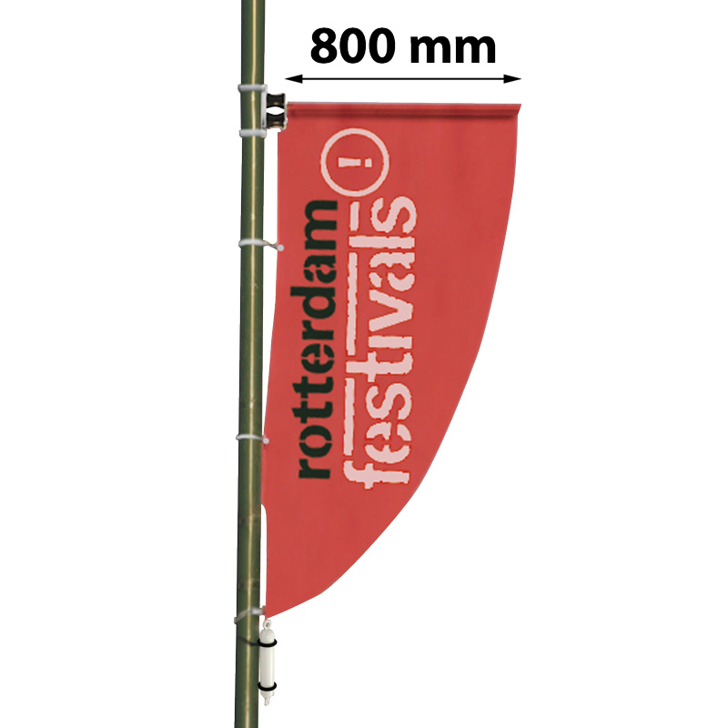 Pole banner, length 800 mm