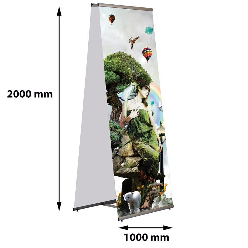 Quick Banner dubbelzijdig 1000 x 2000 mm