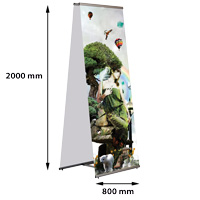 Quick Banner 800 x 2000 mm, dubbelzijdig