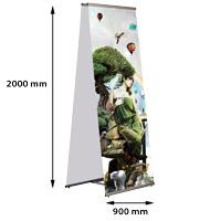 Quick Banner 900 x 2000 mm, dubbelzijdig