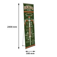 Quick Banner 500 x 2000 mm, klikprofiel, enkelzijdig