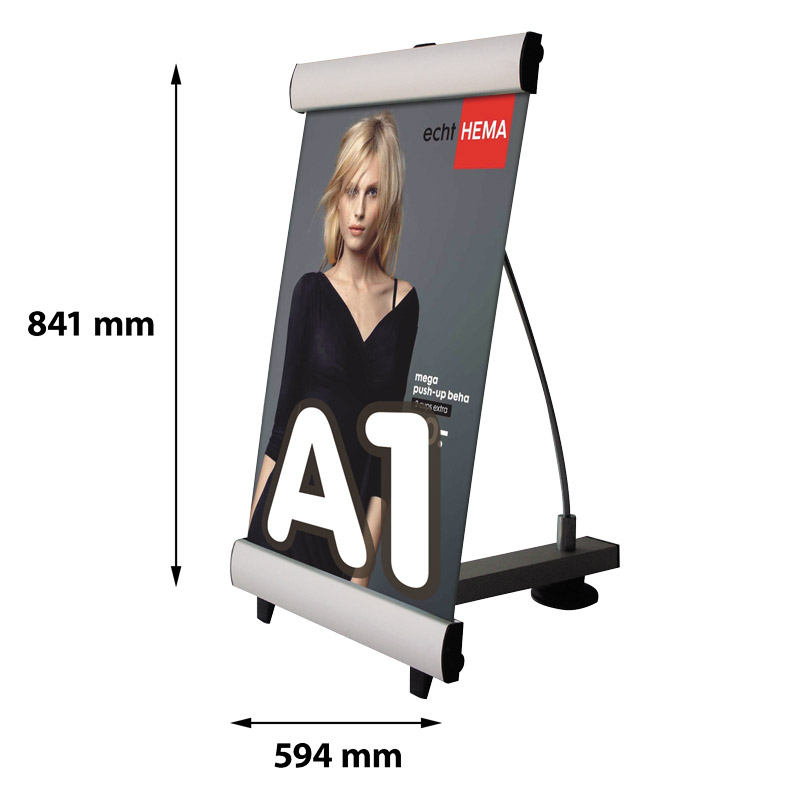 Single-sided mini quick banner A1